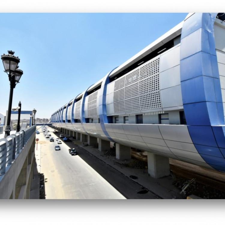 Greater Cairo Metro Project Metro Project Shubra El Kheima Station Steel Foot Bridge, Egypt