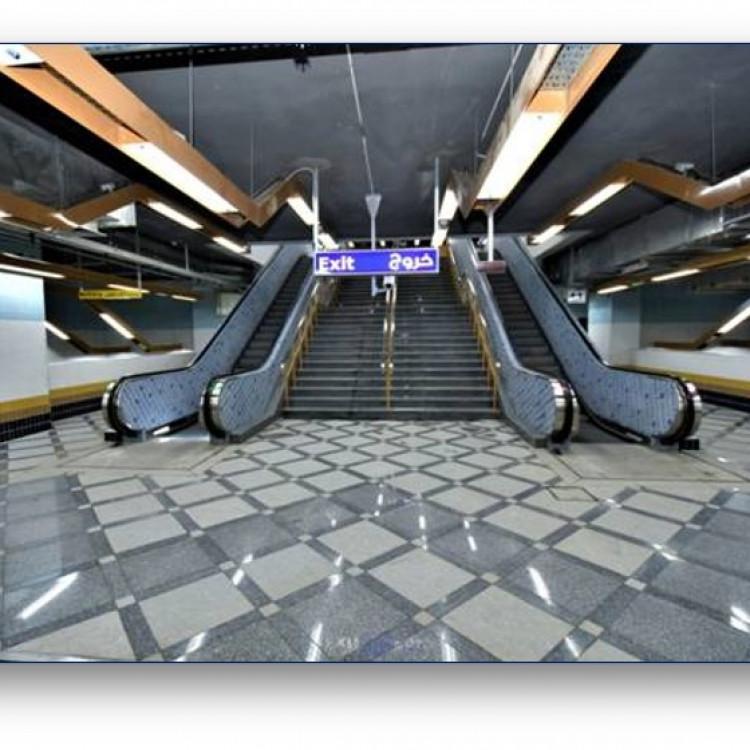 El Khalafawi Station, Greater Cairo Metro, Egypt